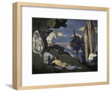 Pastorale-Paul C?zanne-Framed Art Print
