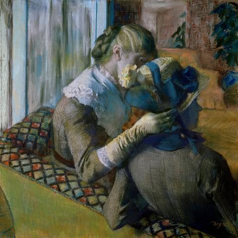 At the Milliner's-Edgar Degas-Stretched Canvas Print