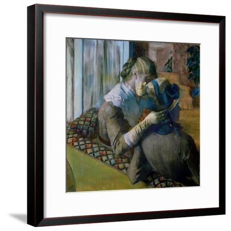 At the Milliner's-Edgar Degas-Framed Art Print