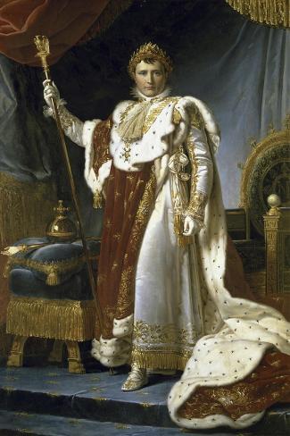 Napoleon En Costume de Sacre-Francois Gerard-Stretched Canvas Print