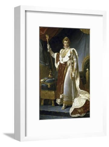 Napoleon En Costume de Sacre-Francois Gerard-Framed Art Print