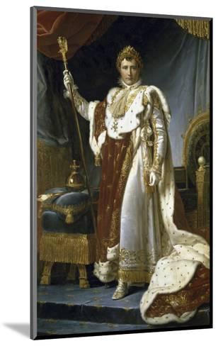 Napoleon En Costume de Sacre-Francois Gerard-Mounted Giclee Print
