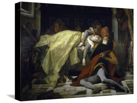 Death of Francesca de Rimini and Paolo Malatesta-Alexandre Cabanel-Stretched Canvas Print