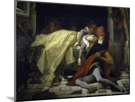 Death of Francesca de Rimini and Paolo Malatesta-Alexandre Cabanel-Mounted Giclee Print