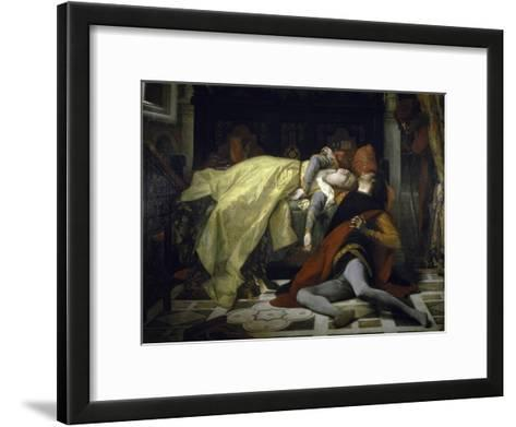 Death of Francesca de Rimini and Paolo Malatesta-Alexandre Cabanel-Framed Art Print