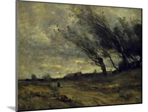 Le Coup de Ventgust of Wind-Jean-Baptiste-Camille Corot-Mounted Giclee Print