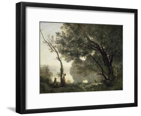 Souvenir of Morte Fontaine-Jean-Baptiste-Camille Corot-Framed Art Print