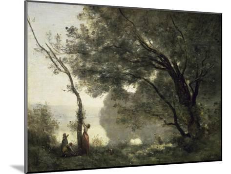 Souvenir of Morte Fontaine-Jean-Baptiste-Camille Corot-Mounted Giclee Print