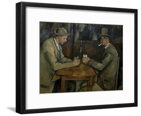 Les Joueurs de Cartes-Paul C?zanne-Framed Art Print