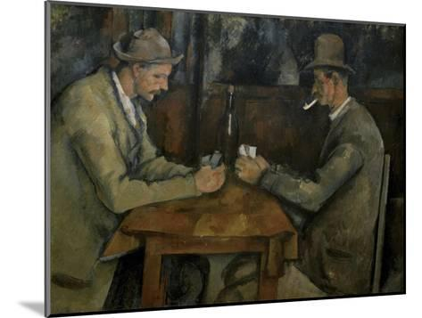 Les Joueurs de Cartes-Paul C?zanne-Mounted Giclee Print