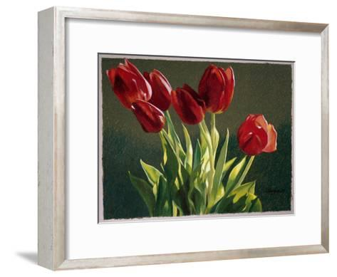 Red Tulips-Helen J^ Vaughn-Framed Art Print