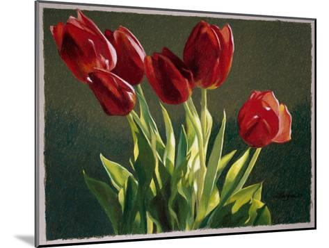 Red Tulips-Helen J^ Vaughn-Mounted Giclee Print