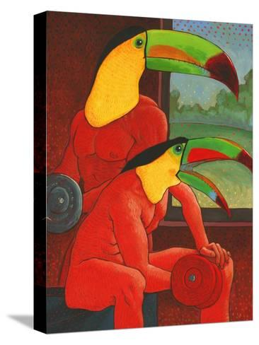 The Workout-John Newcomb-Stretched Canvas Print