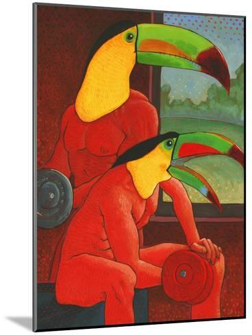 The Workout-John Newcomb-Mounted Giclee Print