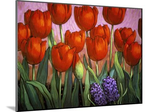 Small Tulips and Hyacinths-John Newcomb-Mounted Giclee Print