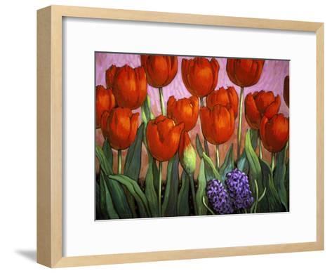 Small Tulips and Hyacinths-John Newcomb-Framed Art Print