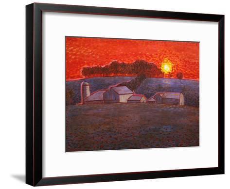 Snowy Farm-John Newcomb-Framed Art Print