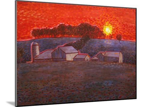 Snowy Farm-John Newcomb-Mounted Giclee Print