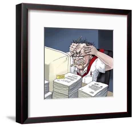 Computer Frustration-Linda Braucht-Framed Art Print