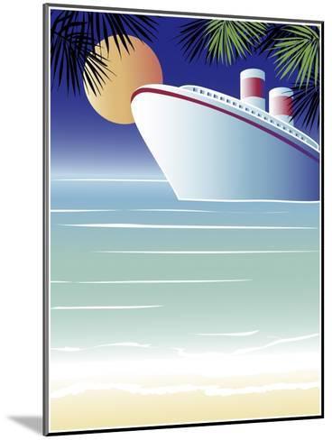 Tropical Cruise Ship-Linda Braucht-Mounted Giclee Print