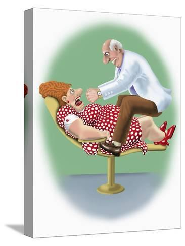 The Dentist-Linda Braucht-Stretched Canvas Print