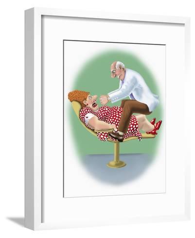 The Dentist-Linda Braucht-Framed Art Print