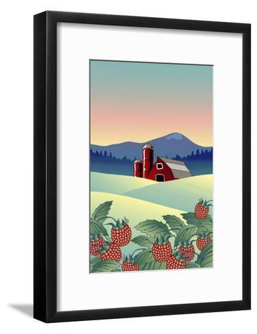 Country Farm-Linda Braucht-Framed Art Print