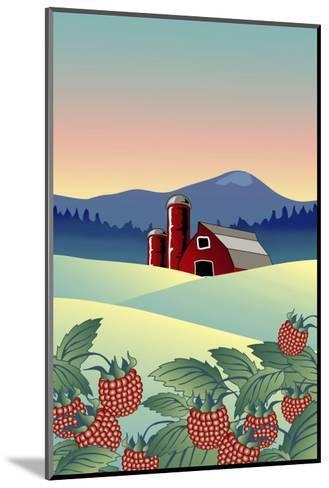 Country Farm-Linda Braucht-Mounted Giclee Print
