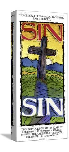 Sins White as Snow-Linda Braucht-Stretched Canvas Print