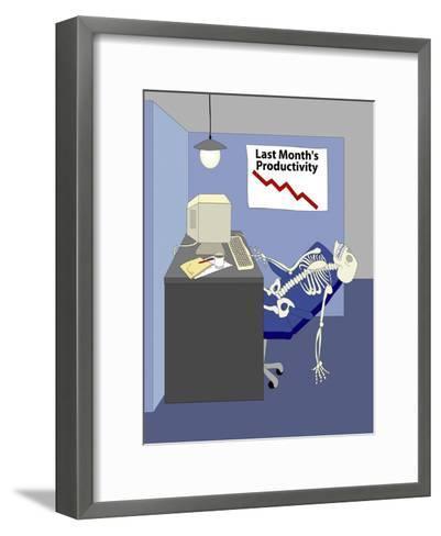 Deleting Spam-Linda Braucht-Framed Art Print