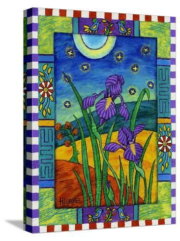 Irises and Fireflies-Helen Lurye-Stretched Canvas Print