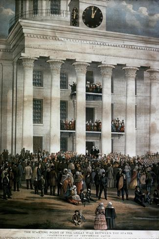 The Inauguration of Jefferson Davis, c.1861-James Massalon-Stretched Canvas Print