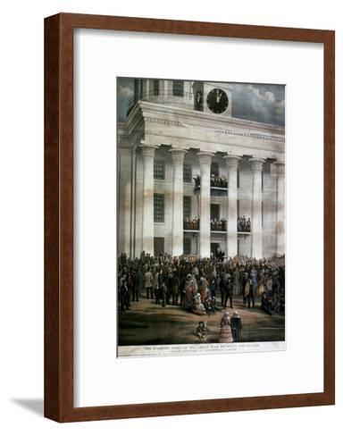 The Inauguration of Jefferson Davis, c.1861-James Massalon-Framed Art Print