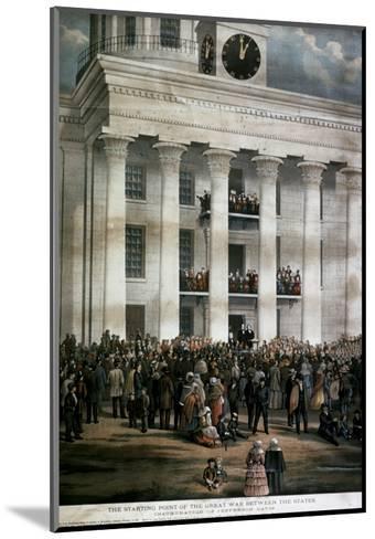 The Inauguration of Jefferson Davis, c.1861-James Massalon-Mounted Giclee Print
