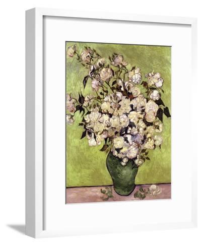 Vase of Roses-Vincent van Gogh-Framed Art Print