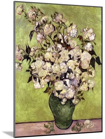 Vase of Roses-Vincent van Gogh-Mounted Giclee Print