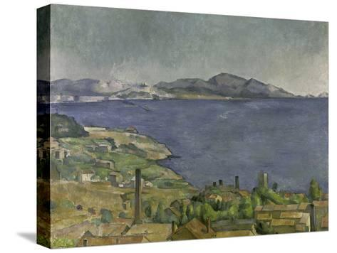The Gulf of Marseilles-Paul C?zanne-Stretched Canvas Print