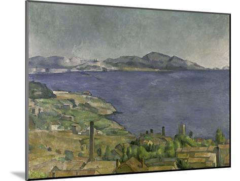 The Gulf of Marseilles-Paul C?zanne-Mounted Giclee Print
