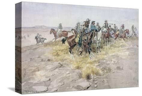 Cowboys-Charles Marion Russell-Stretched Canvas Print