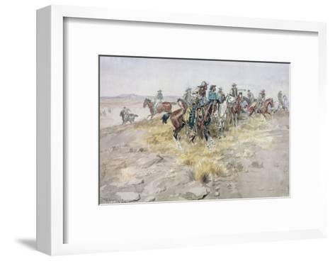 Cowboys-Charles Marion Russell-Framed Art Print