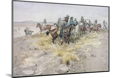 Cowboys-Charles Marion Russell-Mounted Giclee Print