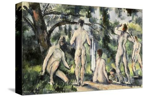 The Bathers-Paul C?zanne-Stretched Canvas Print