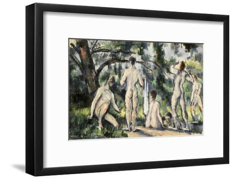 The Bathers-Paul C?zanne-Framed Art Print