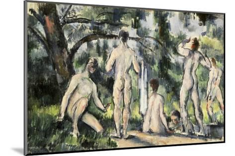 The Bathers-Paul C?zanne-Mounted Giclee Print