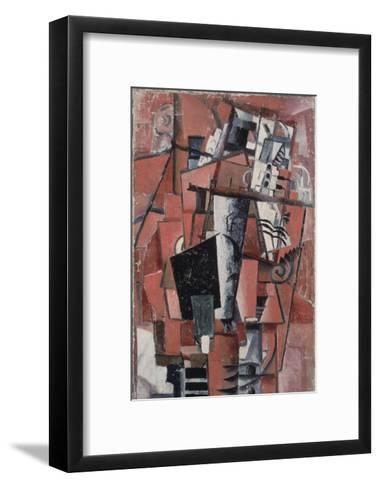 Lady by the Piano-Kasimir Malevich-Framed Art Print
