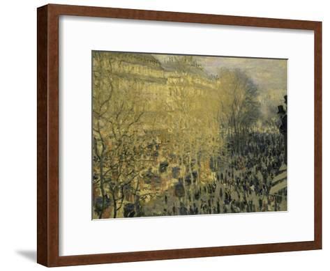 Boulevard Des Capucines-Claude Monet-Framed Art Print
