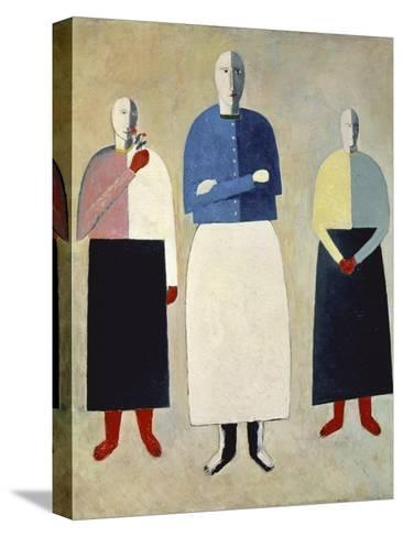 Three Girls-Kasimir Malevich-Stretched Canvas Print
