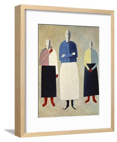 Three Girls-Kasimir Malevich-Framed Art Print