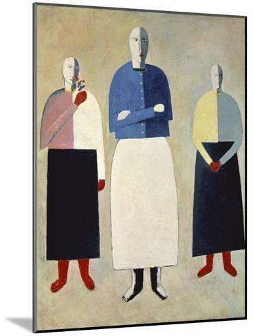 Three Girls-Kasimir Malevich-Mounted Giclee Print