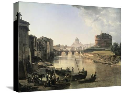 Rome, Castel San Angelo-Silvestre Chedrin-Stretched Canvas Print